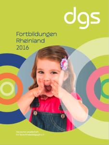 Fortbildungen Rheinland 2016